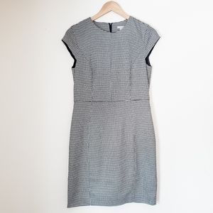 H&M houndstooth sheath dress